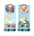group of people in car vacations travel vector image vector image