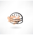 hamburger grunge icon vector image vector image