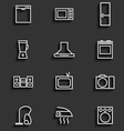 household appliances icons 2 vector image vector image