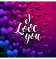 I love You lettering Hand Drawn Lettering vector image vector image