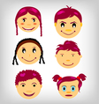 kids faces vector image