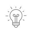 light bulb shining icon on white background vector image