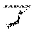 map of japan and a symbol vector image