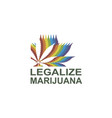 marijuana or cannabis leaf vector image