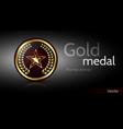 modern gold medal vector image