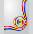 moldovan flag wavy background vector image vector image