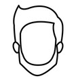 monochrome contour of faceless young man with vector image vector image