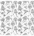 mushrooms in boho style with ornaments seamless vector image vector image