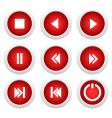 music buttons set vector image vector image