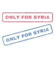 only for syria textile stamps vector image vector image