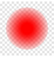 pain red circle icon for inflammatory ache point vector image vector image