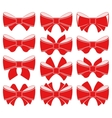 Plain red bow vector image vector image