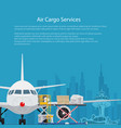 poster air cargo services vector image