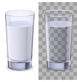 realistic glasses of water on white background vector image vector image