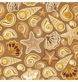 Sea shells seamless pattern in colorful on white