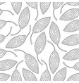seamless pattern of striped leaves vector image vector image