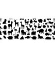 seamless pattern with animals silhouette vector image vector image