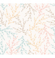 Seamless spring pattern with plants floral vector image vector image