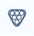 Set of billiard balls in triangle sketch icon vector image vector image