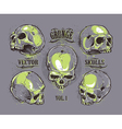 Skulls Hand Drawn Set 2 vector image