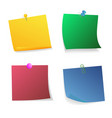 sticker set pinned push button vector image