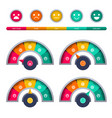 tachometer ratio measuring interface happy vector image vector image