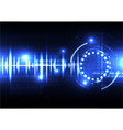 technological spce sound wave light effect vector image vector image