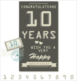 Template of anniversary jubilee or birthday card vector image