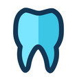 tooth medical icon filled line pink blue color vector image vector image