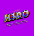 trendy 3d comical letters design colorful vector image vector image