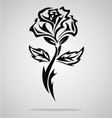 Tribal Rose vector image vector image