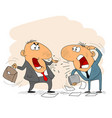 two arguing businessman vector image
