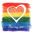 wedding rainbow card vector image