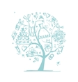 Wedding tree concept for your design vector image vector image