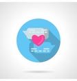 Online declaration of love round icon vector image