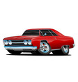 red hot classic muscle car coupe cartoon vector image