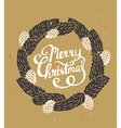 Traditional green Christmas decoration Fir-tree vector image