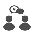 man and woman talk with balloon vector image
