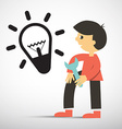 Man with Wrench and Bulb Icon vector image