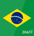 brazil flag map star game 2016 soccer football vector image