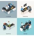 Office Isometric Icon Set vector image