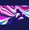 abstract graphic linear waves vector image