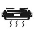 Air conditioning front view icon simple style