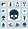 army icons set collection of order atom vector image