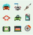 auto car repair service symbols isolated shop vector image