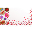 background with hearts and gift boxes vector image