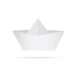 boat made of paper vector image