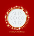 bright red background with christmas ornaments vector image vector image