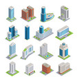 buildings isometric set vector image vector image