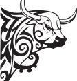bull design vector image vector image